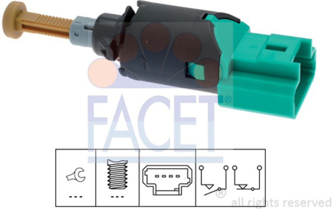 FACET Brake Light Switches For PEUGEOT 307 308 207 CITROEN C4 FIAT SCUDO 7.1213