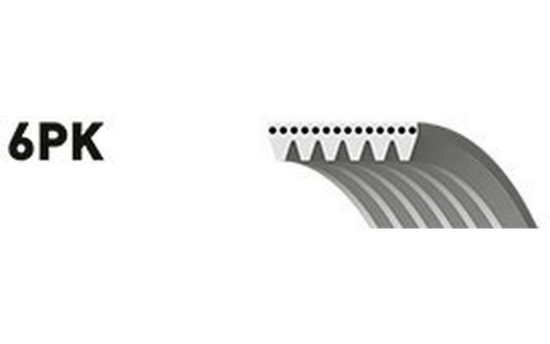 GATES Courroie d/'alternateur-accessoires 6 nervures Pour CITROEN XANTIA 6PK1650