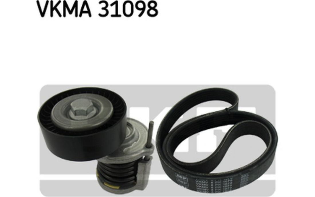 SKF Drive Belt Set For SKODA OCTAVIA VOLKSWAGEN PASSAT VKMA 31098