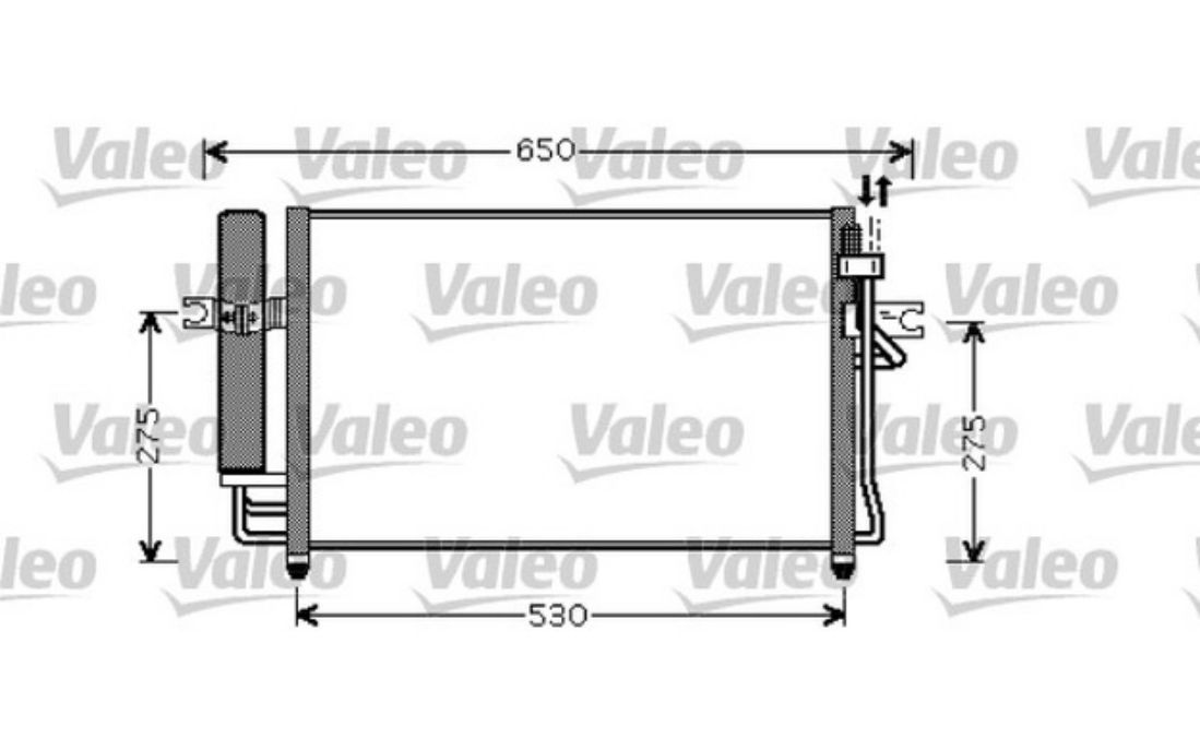 VALEO Condenser, air conditioning Hyundai Getz 1.1,1.3