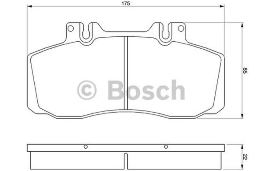 4x BOSCH Front Brake Pads For MERCEDES-BENZ VARIO 0 986 468 350
