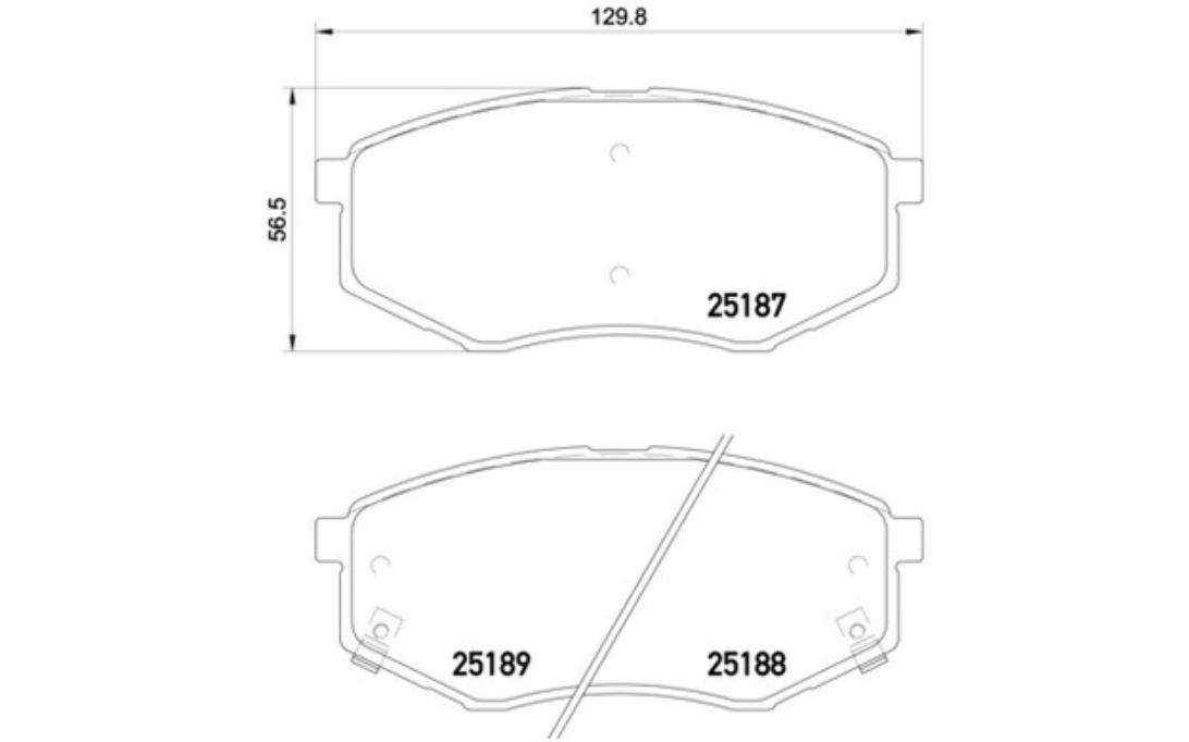 4x BREMBO Bremsbeläge vorne Für HYUNDAI ix20 P 30 055