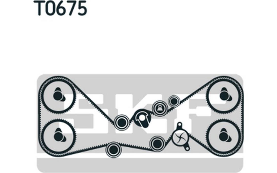 SKF Zahnriemensatz mit Wasserpumpe VKMC 98114