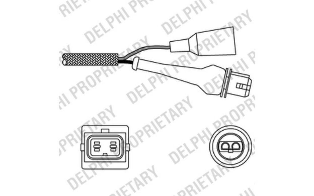 Delphi Es10242 12b1 Lambda Sensor