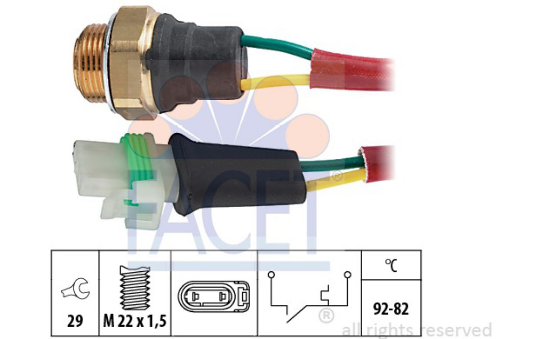 FACET Radiator Fan Switches For RENAULT 21 7.5127