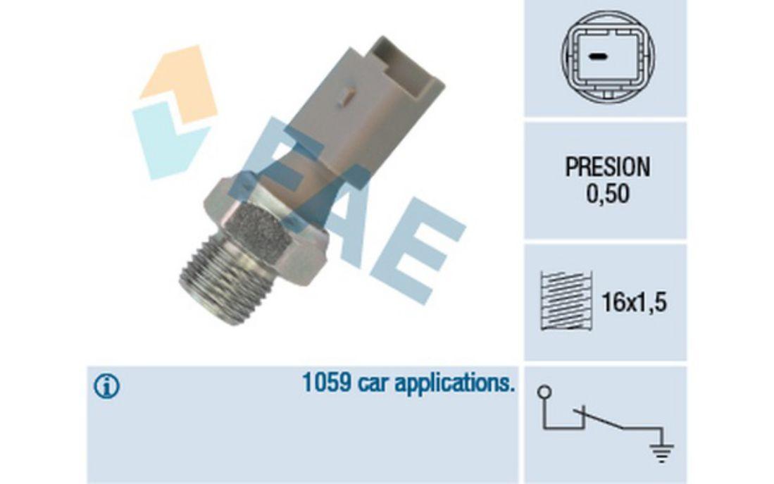 FAE Oil Pressure Switch For PEUGEOT 207 206 VOLVO C30 12640