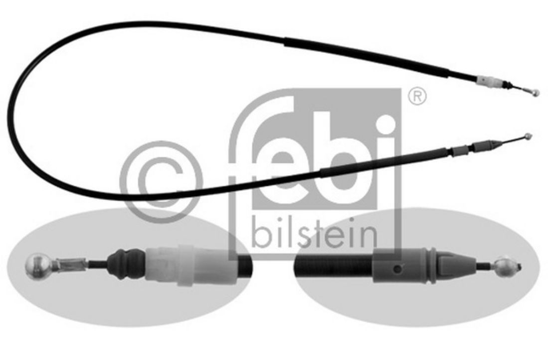 FEBI BILSTEIN Handbrake Cables Right For VAUXHALL VIVARO 33168