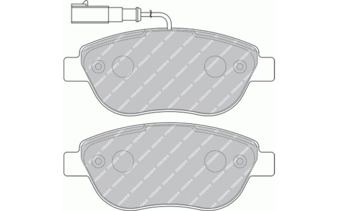 Détails sur 4x FERODO Plaquettes de Frein Avant Pour FIAT PUNTO BRAVO  Abarth 500 FDB1467