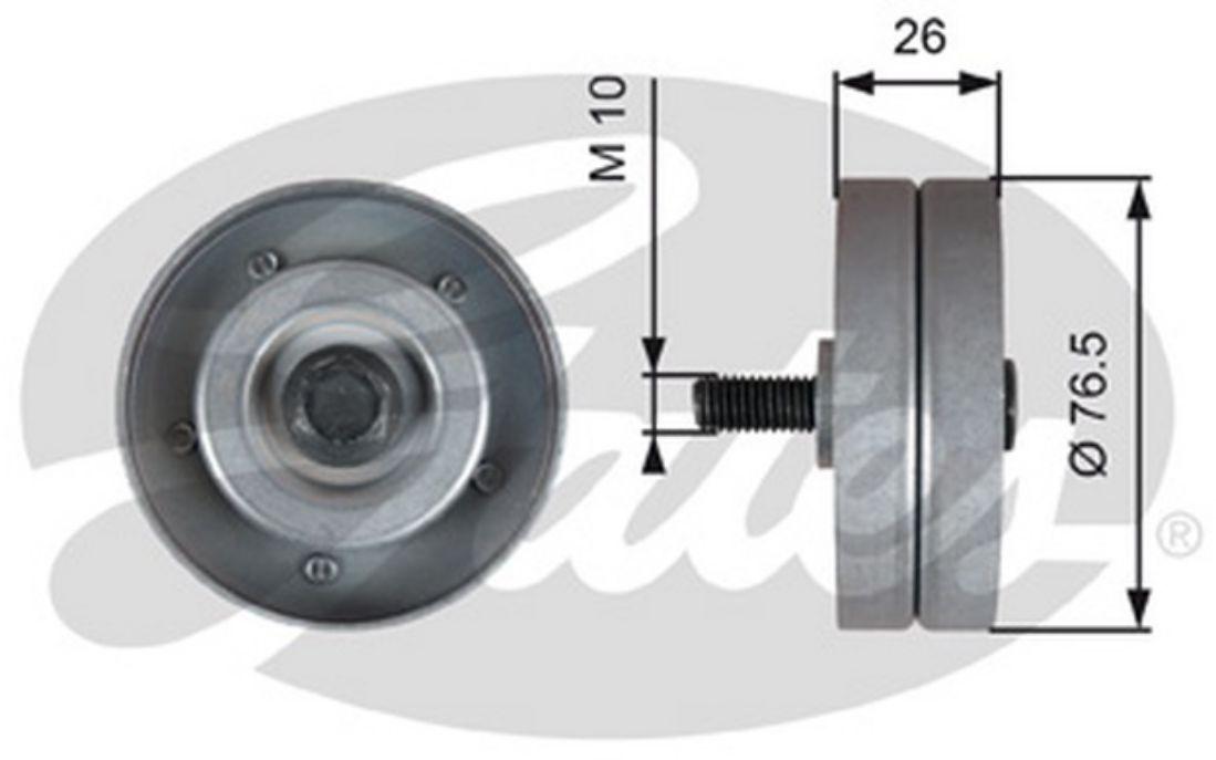 pour Opel Corsa C 1.7 CDTI GATES Galet enrouleur courroie d/'accessoire