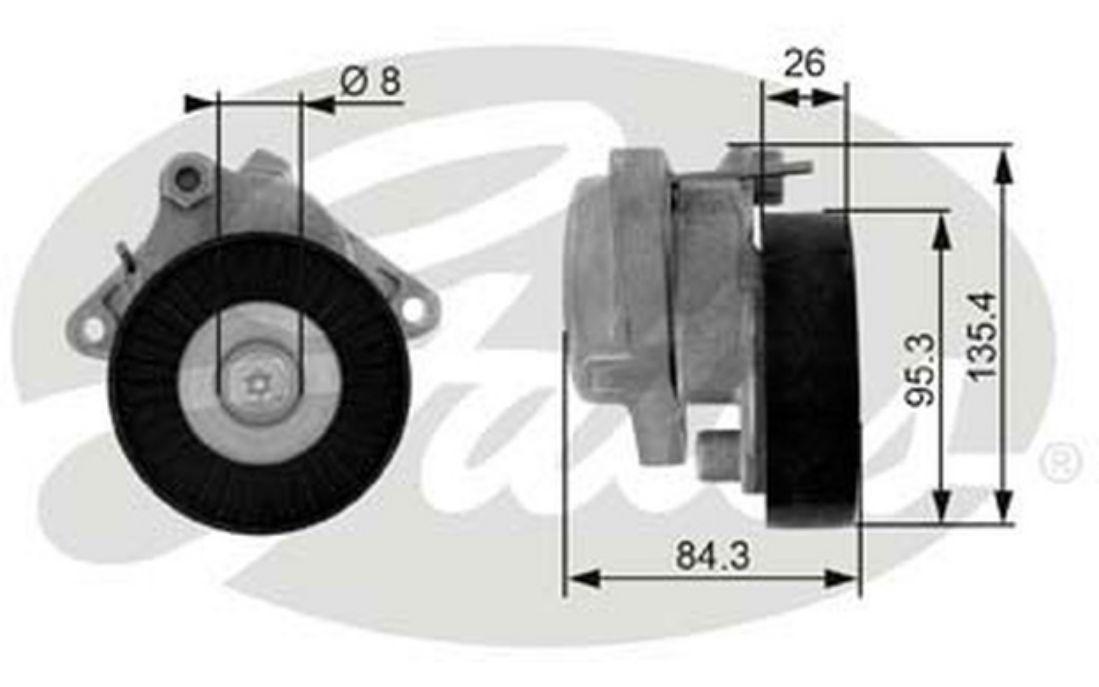 Galet tendeur (courroie d'accessoire) pour Mercedes E-Class E 280 T GATES