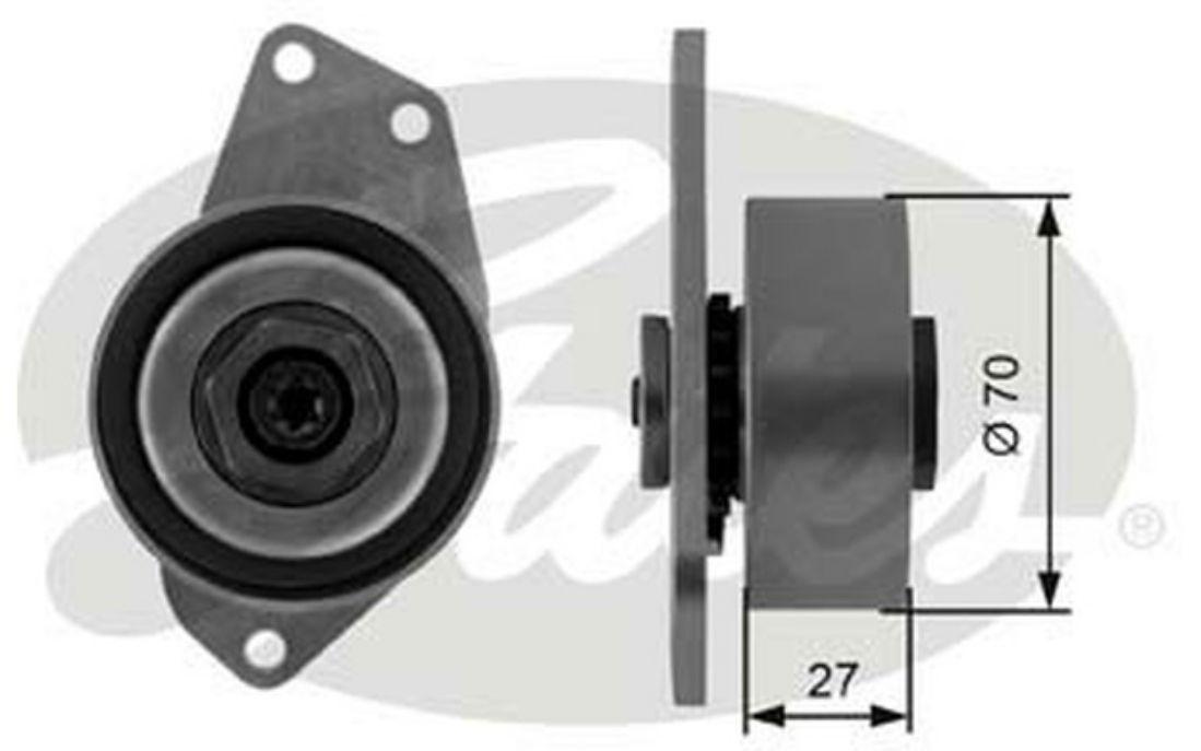 courroie d/'accessoire pour Rover 75 Tourer 2.0 CDTI GATES Galet tendeur