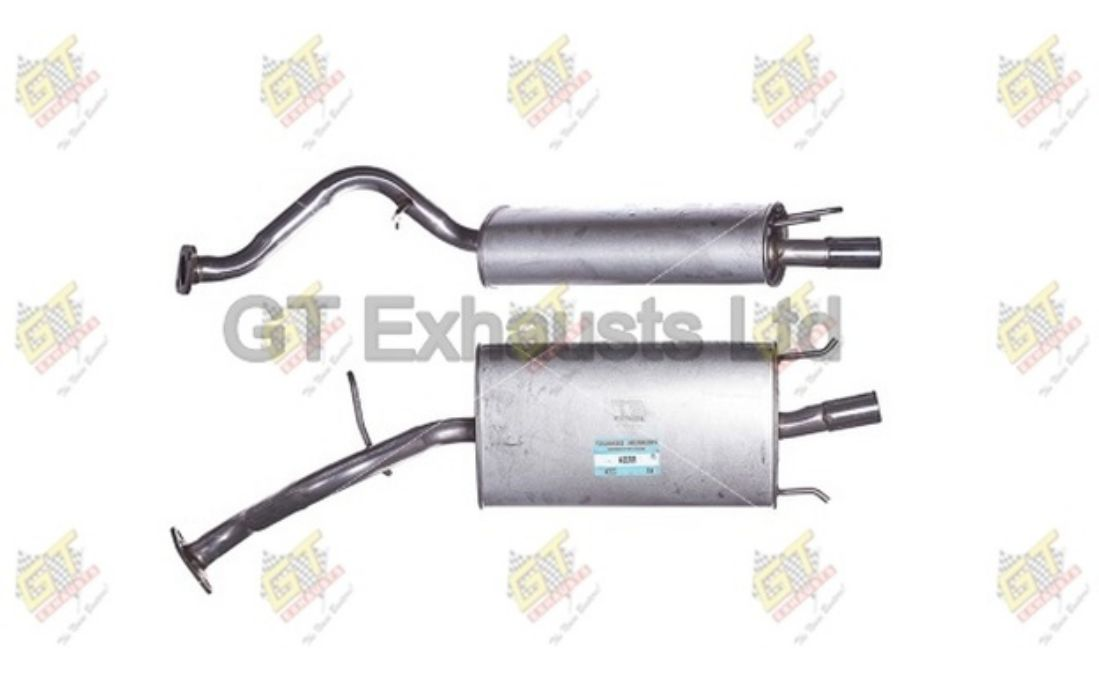 GT EXHAUST End Silencer for ROVER 25 CABRIOLET STREETWISE COUPE MG EXPRESS