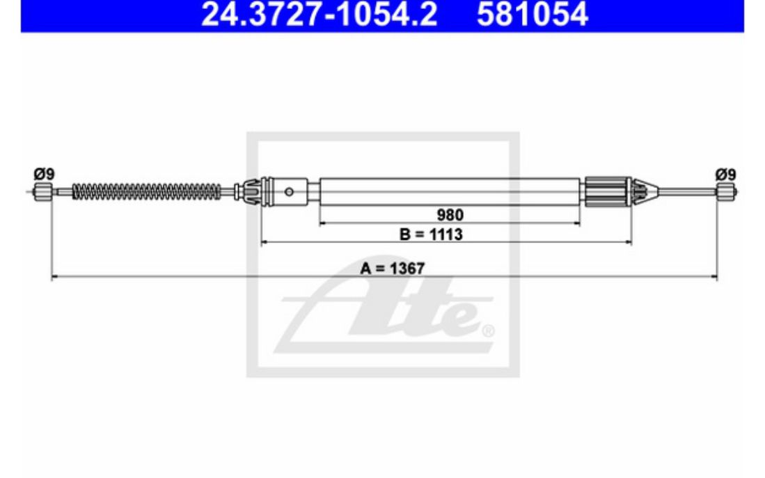 ATE Handbrake Cables 24.3727-1054.2