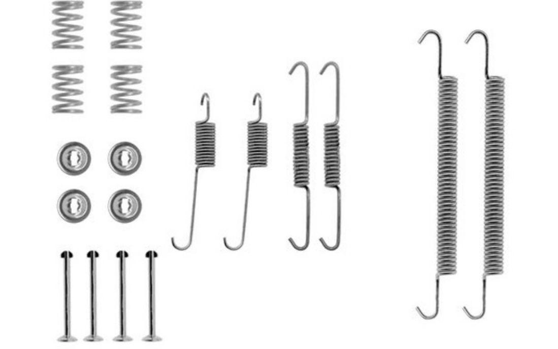 HELLA-Accessory-Kit-brake-shoes-fits-Renault-Megane-1-9-D-Eco-1-6i-1-9-DT
