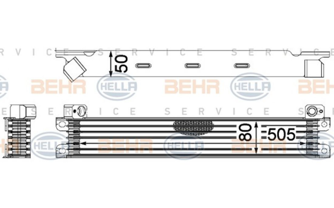 8MO 376 701-611 HELLA Oil Cooler  steering system