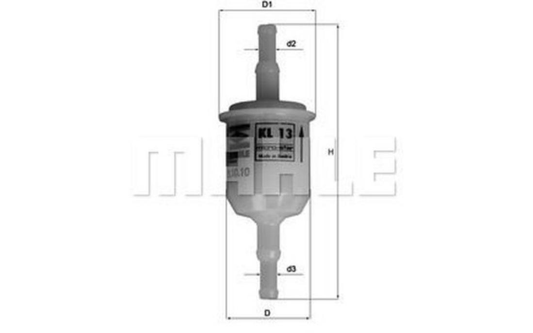 para veh/ículos comerciales 10 Filtro de combustible original MANN-FILTER WK 31//2 1 unidad