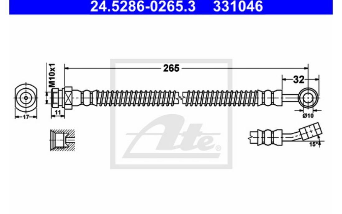 ATE 24.5286-0265.3 Bremsschlauch