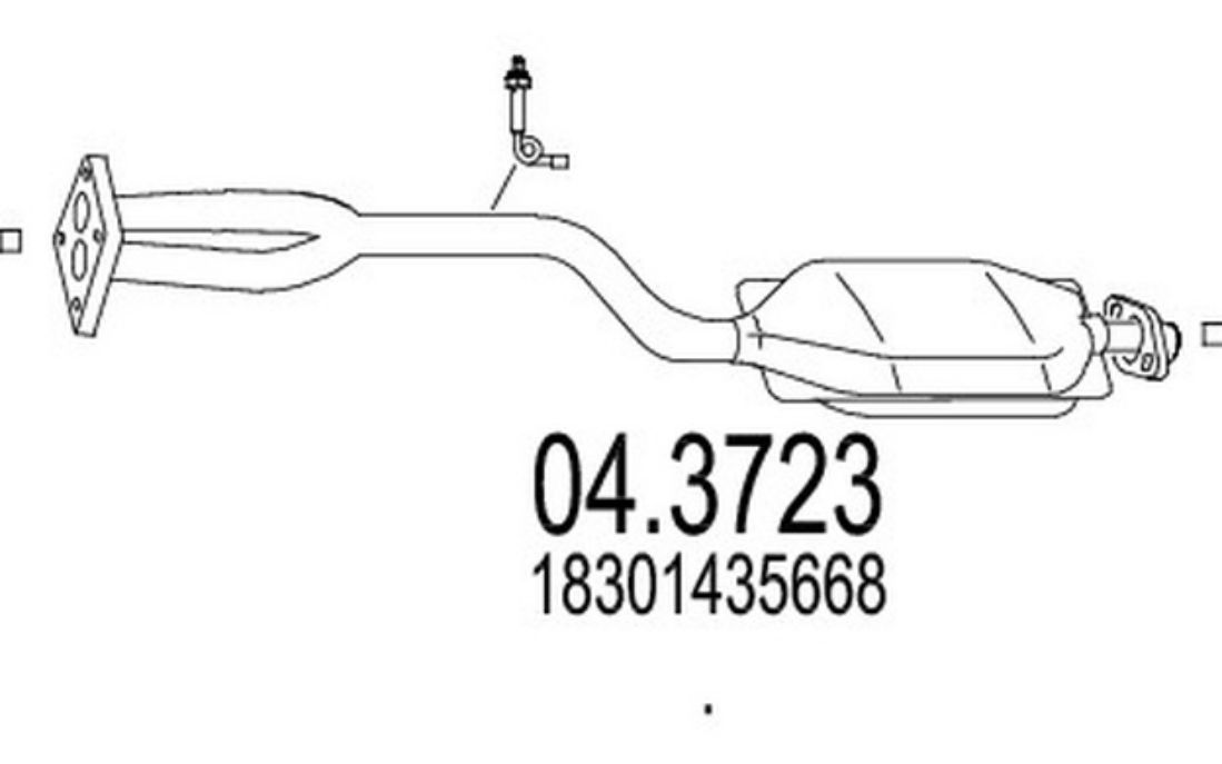 Mapco 3723 Tubo flexible de frenos