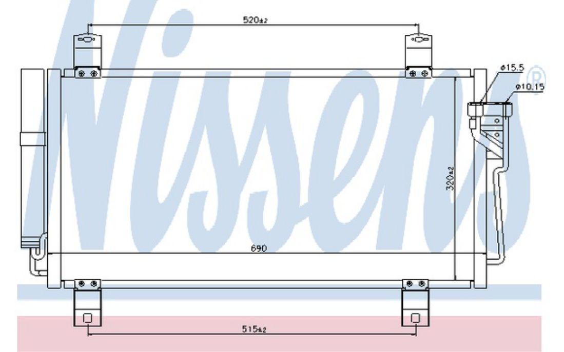 NISSENS Air Conditioning Condenser 940032