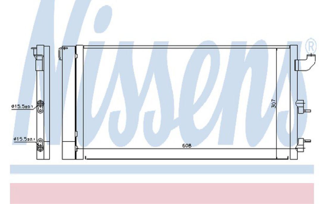 5 YEAR WARRANTY BRAND NEW Nissens Air Conditioning A//C Condenser 940320