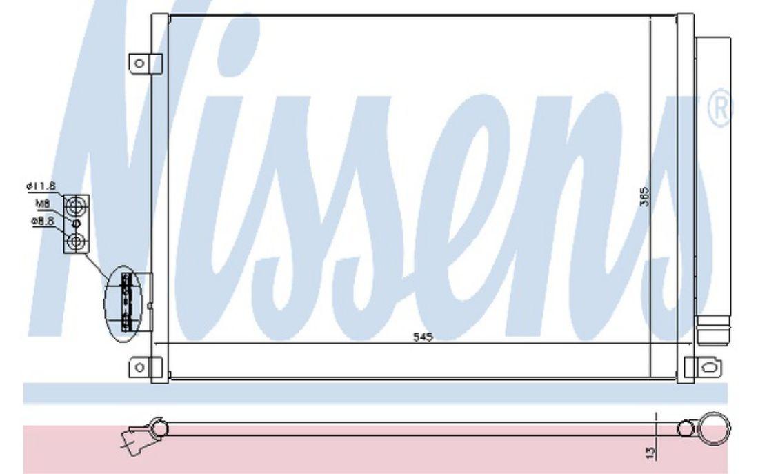 NISSENS Air Conditioning Condenser 940280
