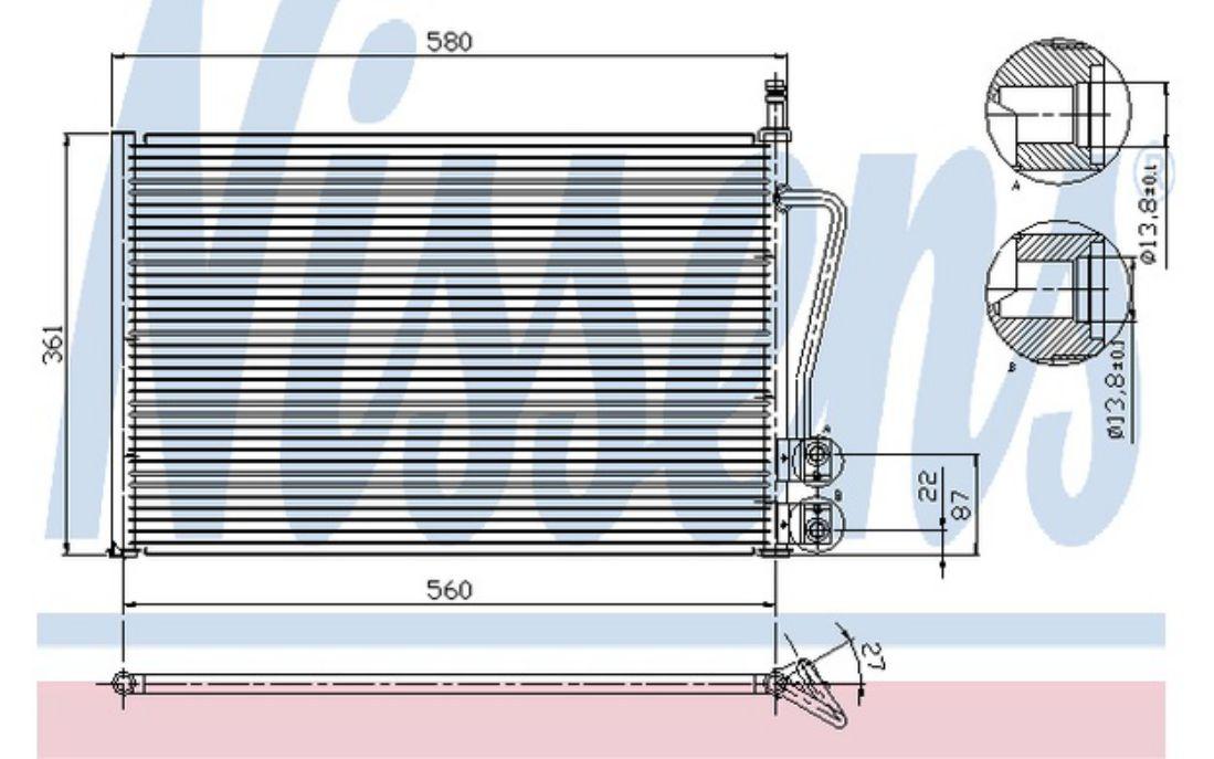 Auto Air Condenseur 16-1125 pour FORD FIESTA 1.4