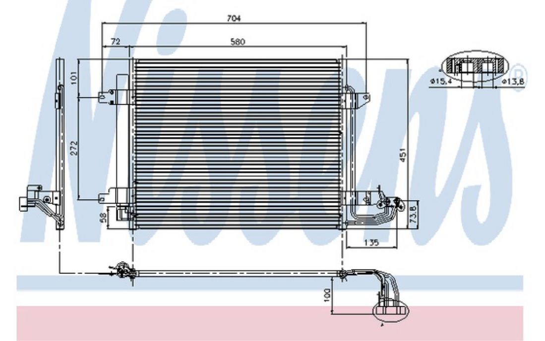 NISSENS Air Conditioning Condenser 94690