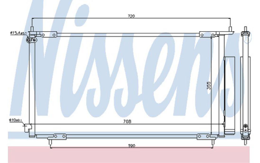 NISSENS Air Conditioning Condenser 94772