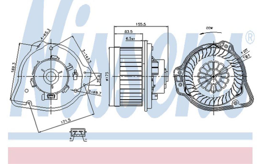 NISSENS Interior Blower for VOLVO S70 V70 C70 87020