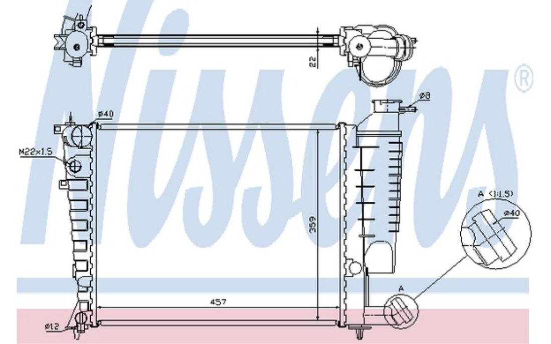 NISSENS Radiateur moteur Pour PEUGEOT 306 613671