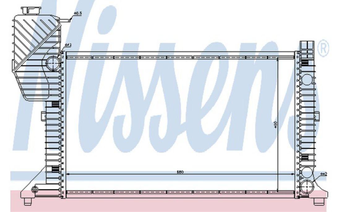 NISSENS Radiateur moteur Pour MERCEDES-BENZ SPRINTER 62664A
