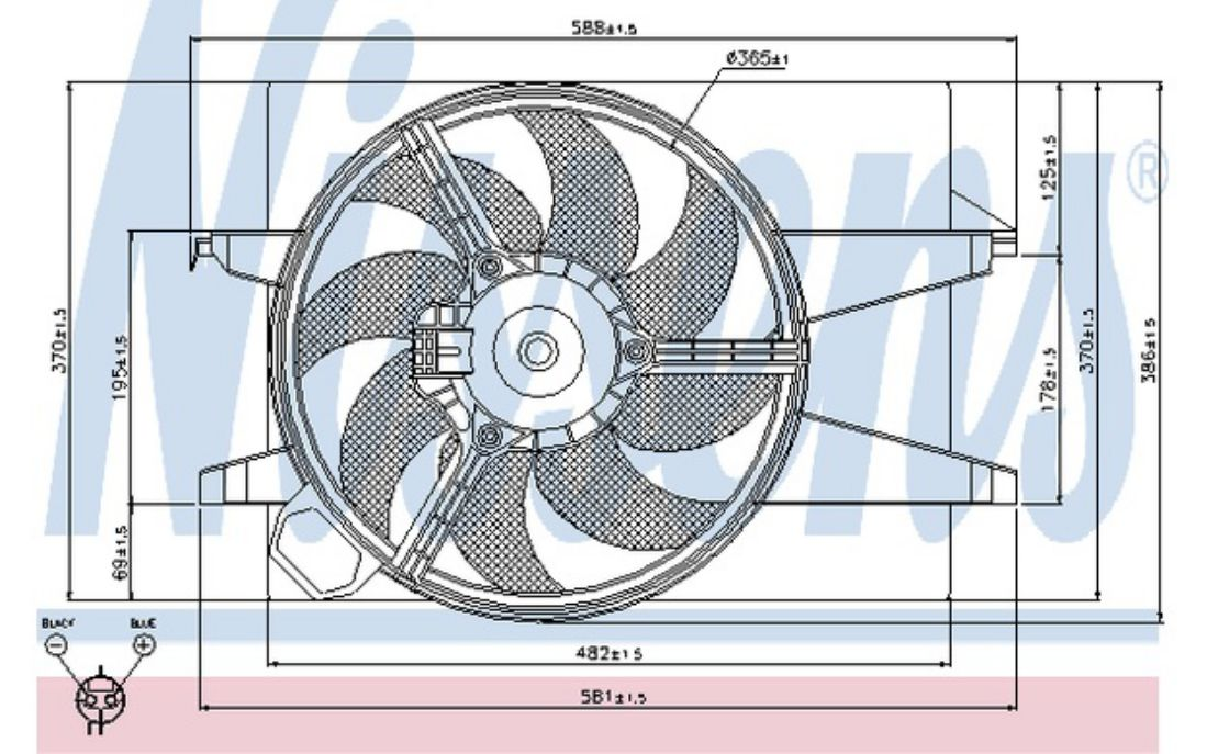 NISSENS Radiator Fan 85032