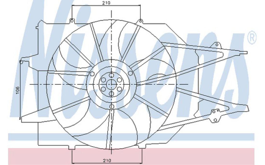 NISSENS Radiator Fan 85213