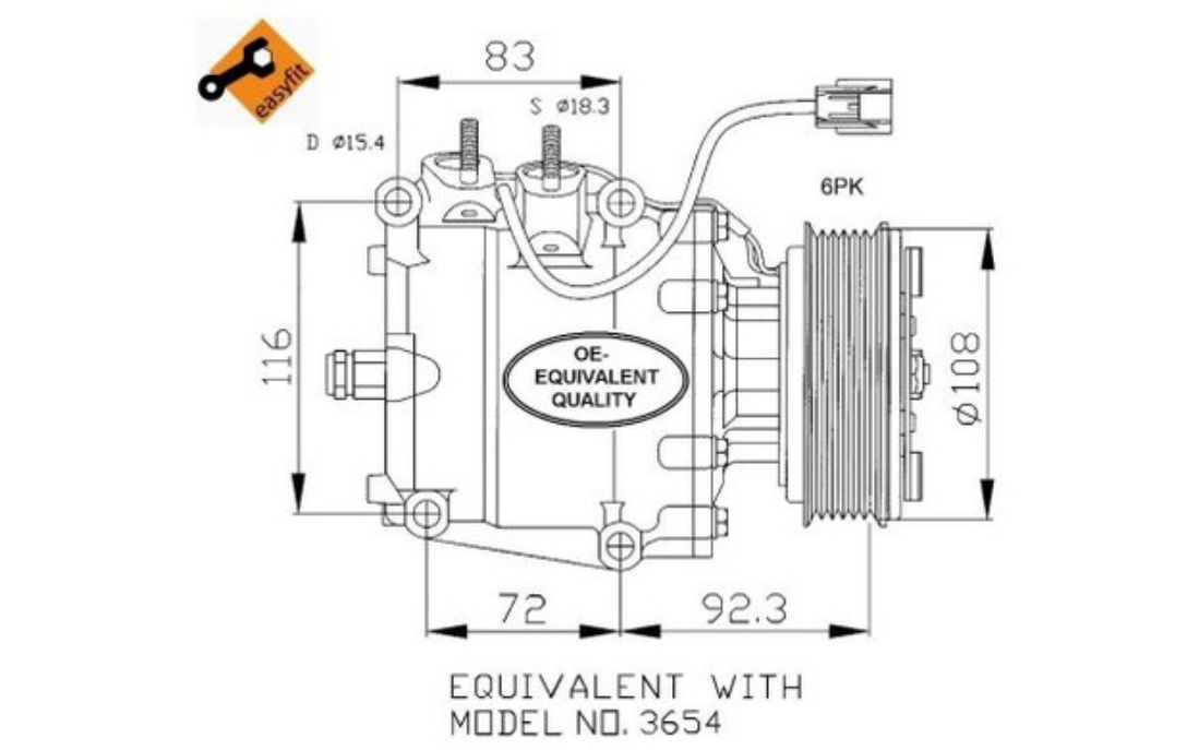 Image is loading NRF-Air-Conditioning-Compressor-12V-32072