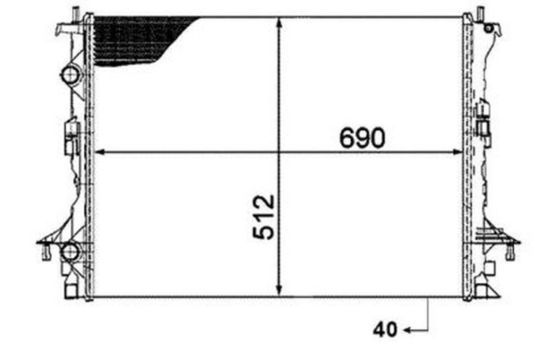 nrf radiator engine cooling renault espace velsatis 53820 ebay rh ebay co uk Small Block Chevy Cooling Diagram Car Engine Cooling System Diagram