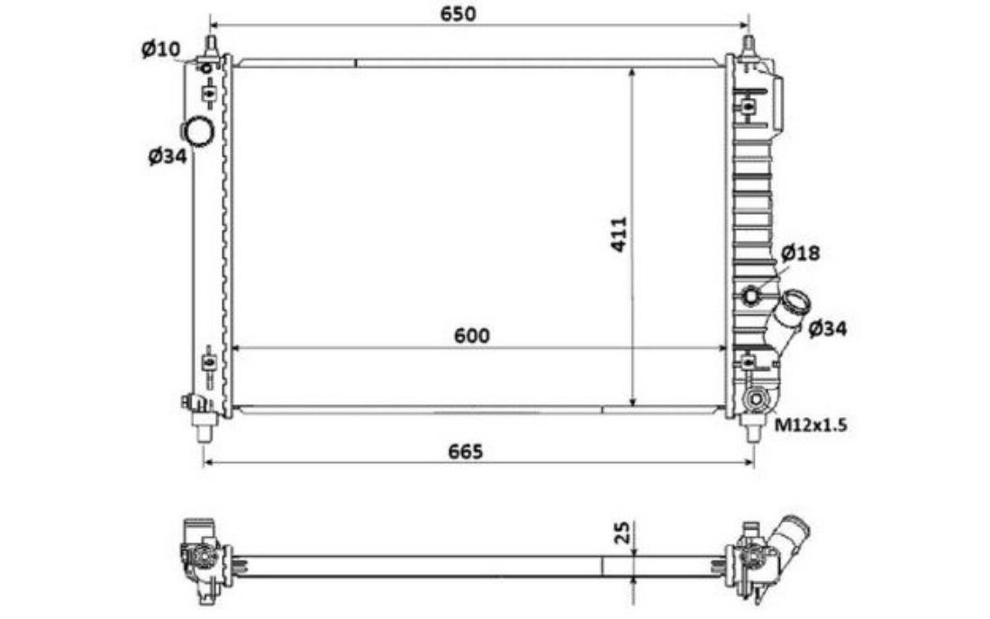 05- Kühler Motorkühler Wasserkühler CHEVROLET AVEO 1.4 i 16V