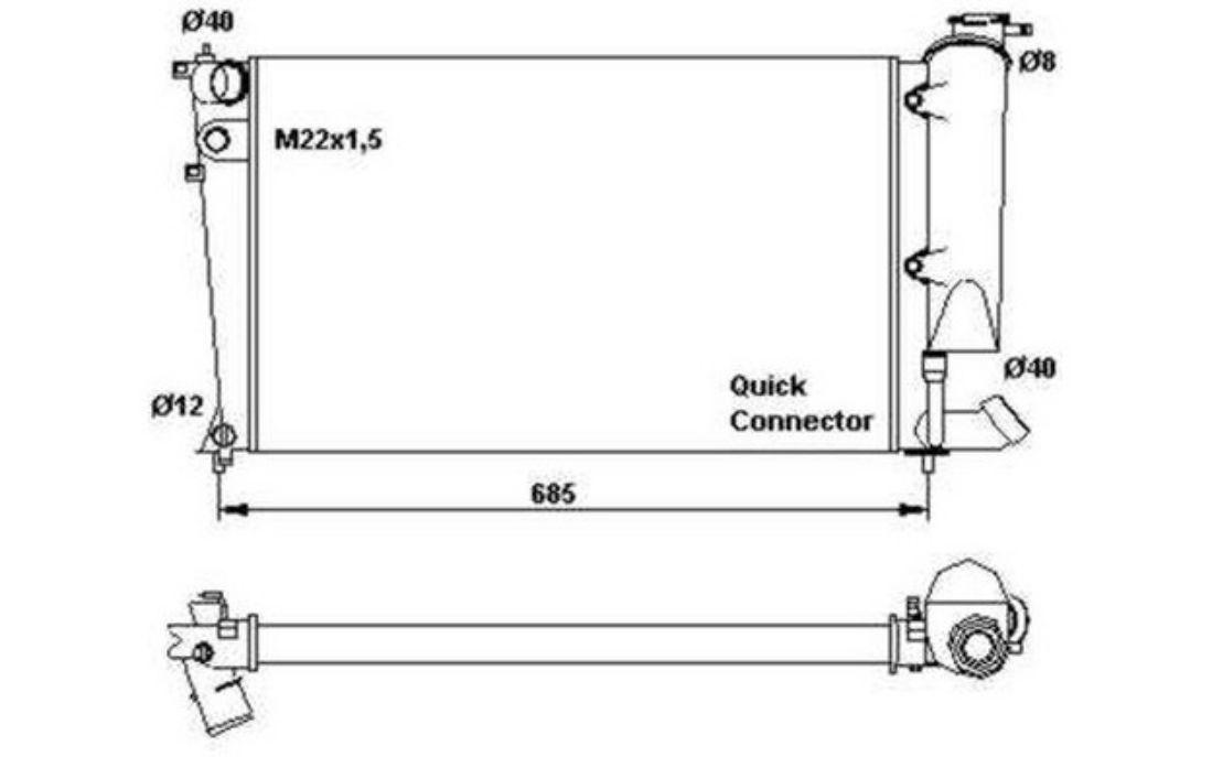 nrf radiator engine cooling peugeot 306 citroen xsara zx 58923 rh iwadysale xyz Mazda 6 Cooling System Diagram Car Engine Cooling Diagram
