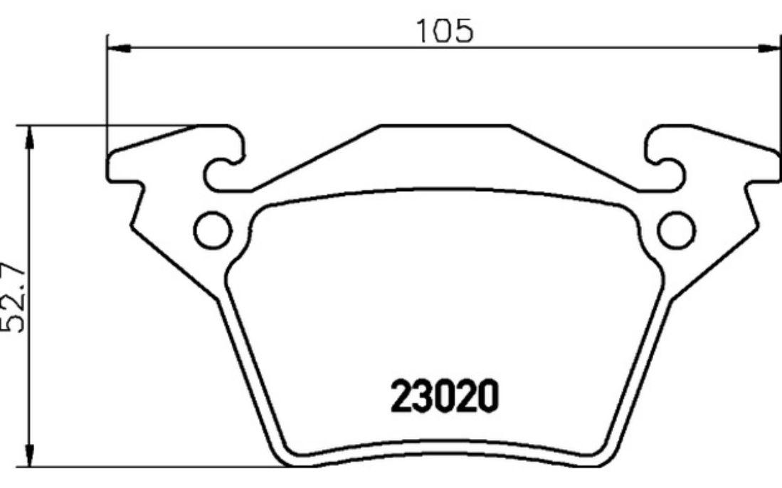4x TEXTAR Plaquettes de Frein Arrière pour Mercedes V-Class V 230