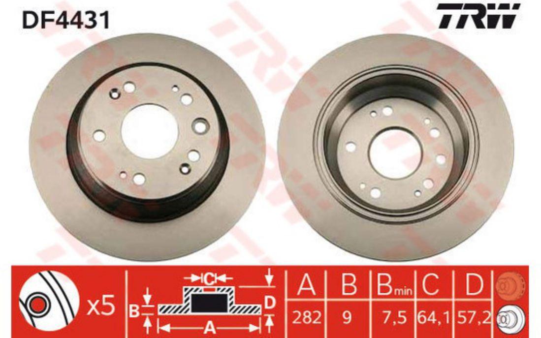 2x ATE Bremsscheibe Vorne Honda S2000 AP 2.0 1999//06-2004//12