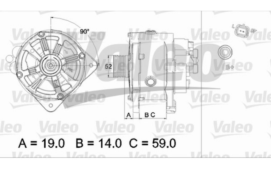 RENAULT Scenic II 2 1.9 dCi LICHTMASCHINE 150A 155A ORIGINAL VALEO Wassergekühlt
