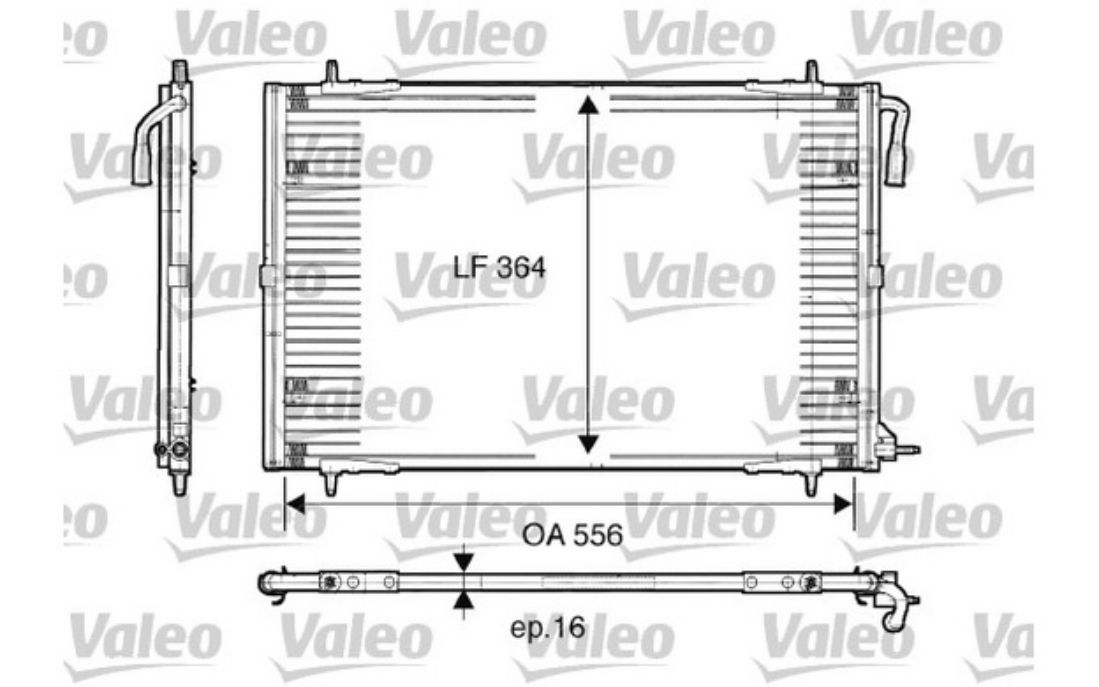 valeo air conditioning condenser for peugeot 206 817283