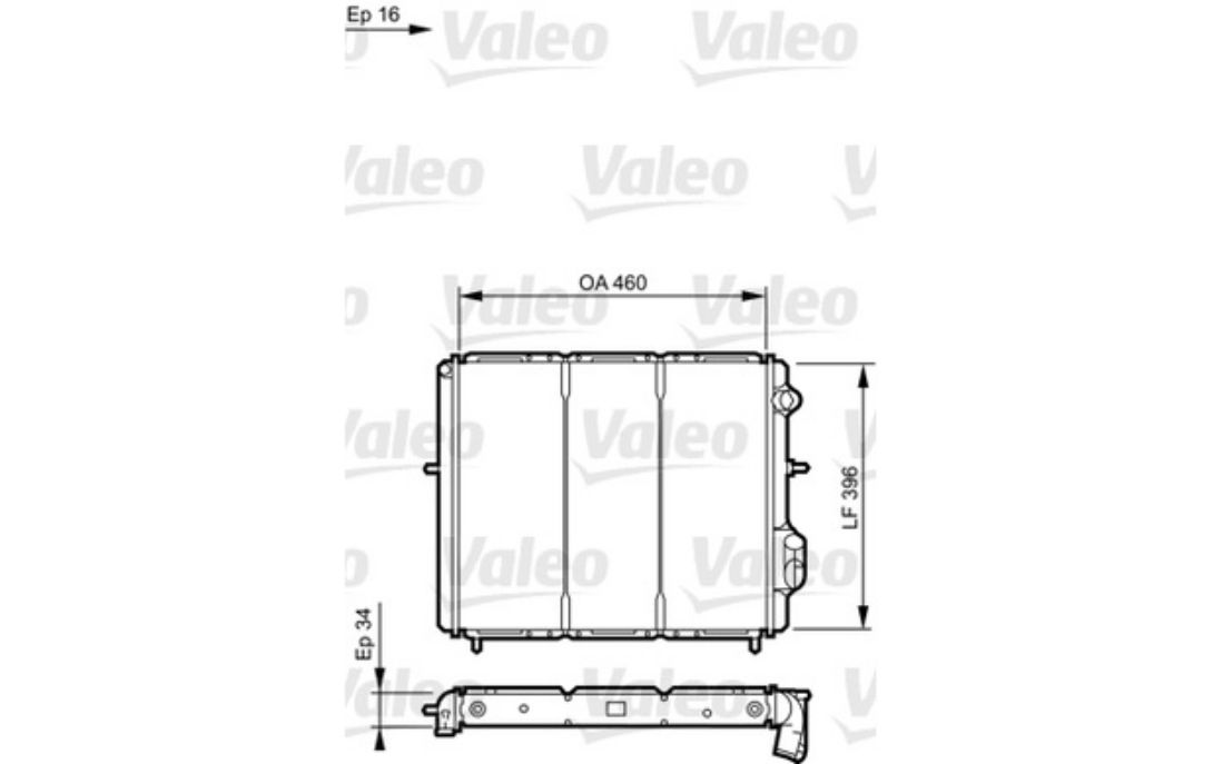 engine cooling radiator renault clio 1 9 d valeo 730183 ebay rh ebay co uk Car Engine Cooling System Diagram Diesel Engine Cooling System Diagram