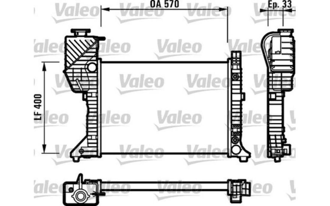 Engine Cooling Radiator 8MK376710-294 Fits MERCEDES S500 W220 5L