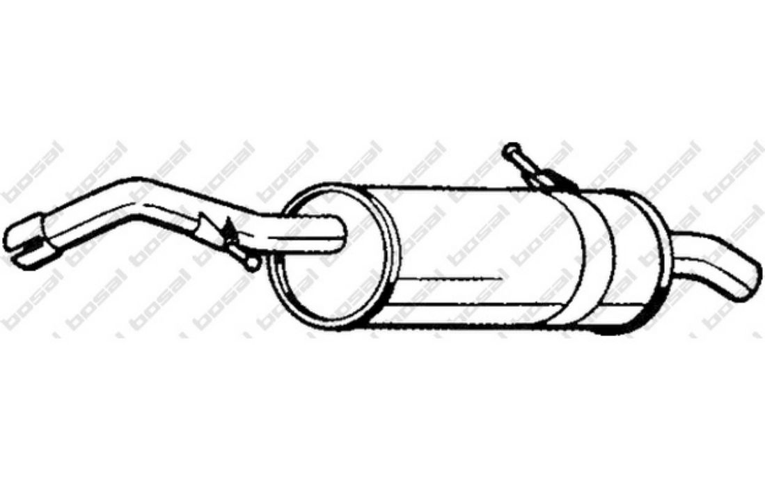 Endschalldämpfer Citroen C3 I FC 1.4 16V HDi ab 2002