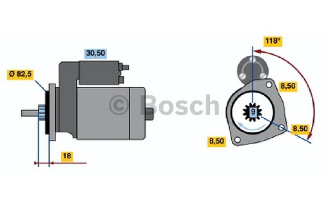 Bosch Starter Motors 0 8kw 12v 0 986 010 460 Ebay