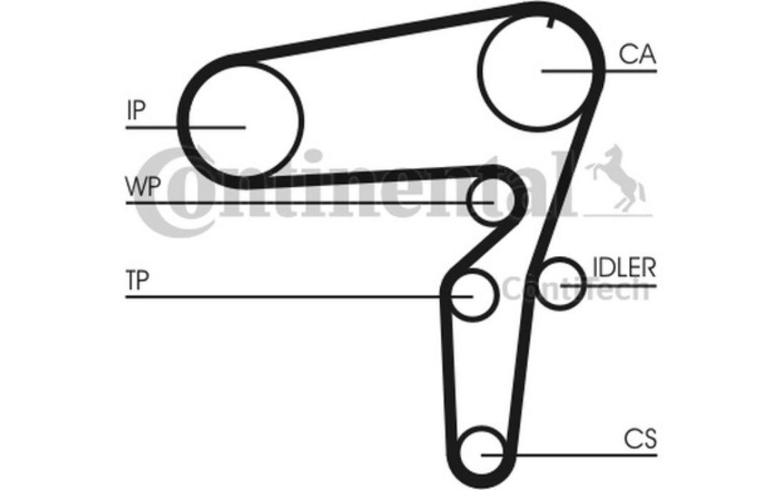 Courroie d/'accessoire pour Alfa Romeo 156 1.9 JTD 1.9 JTD 16V CONTITECH