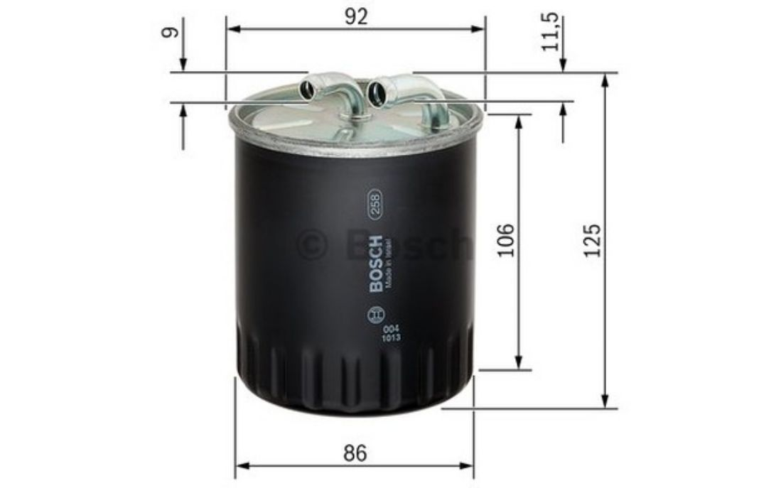 bosch fuel filter 87mm for mercedes-benz c - class b e cls a s 1 457 434 437