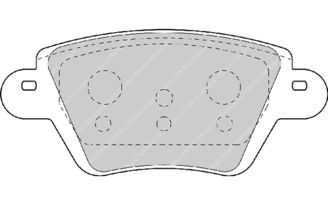 Ferodo plaquettes de freins Audi vw Essieu Avant Bremsbelagsatz plaquettes de frein
