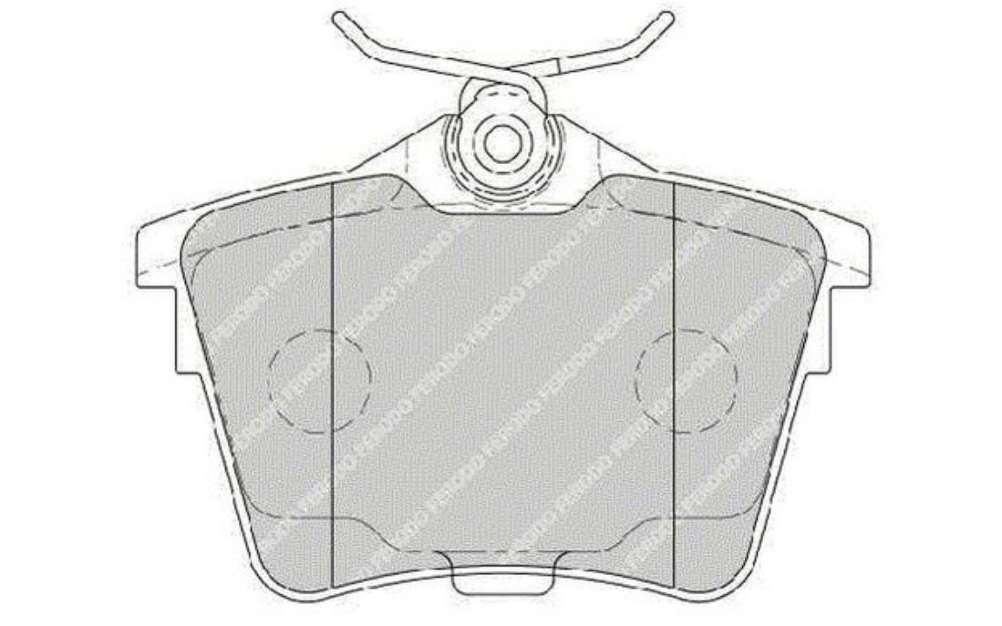 Peugeot 407 2.7 hdi origine borg /& beck arrière plaquettes de frein set