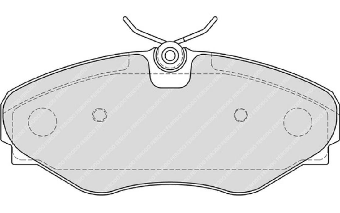 4x FERODO Plaquettes de Frein Avant Fiat Freemont 2.0 JTD 4x4 2.0 JTD